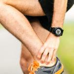 Schwellung und Knoten an Achillessehne