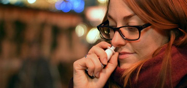 Nasenspray hilft bei einer Siebbein Entzündung