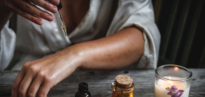 Arganöl für die Haut wird angewendet